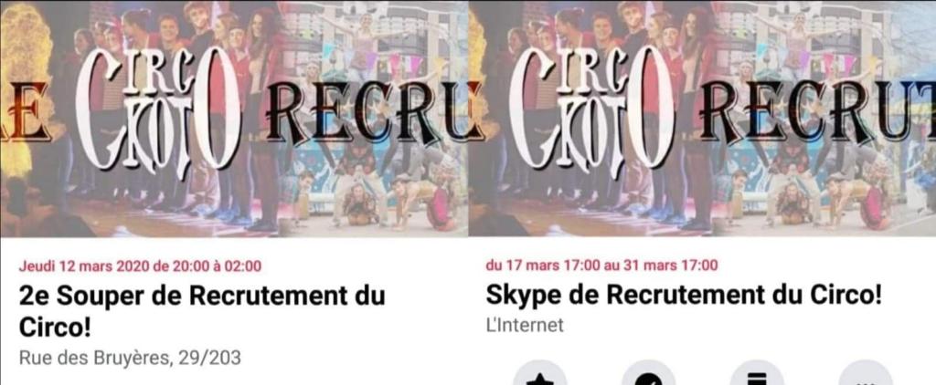 Capture d ecran des évènements Facebook du Cicrokot